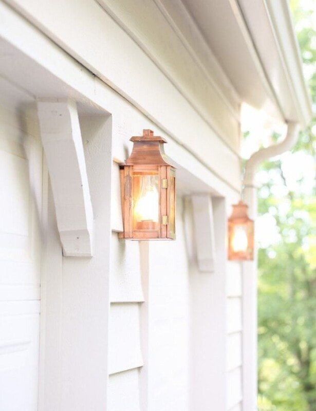 copper lanterns - timeless and beautiful outdoor lighting that only looks prettier with time