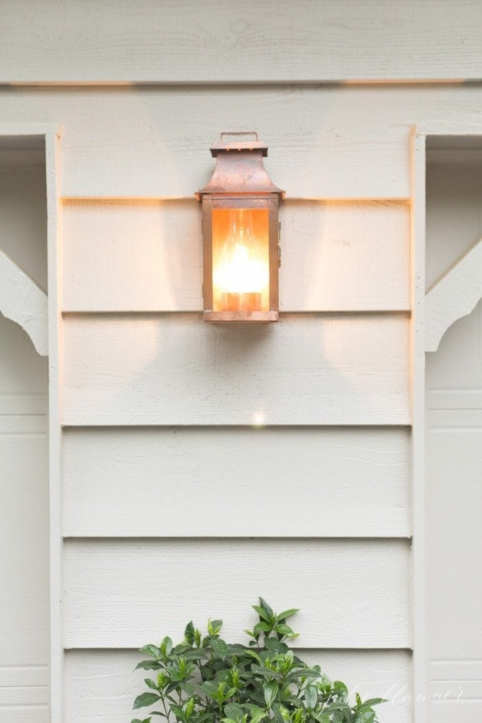 traditional outdoor lighting - copper lanterns
