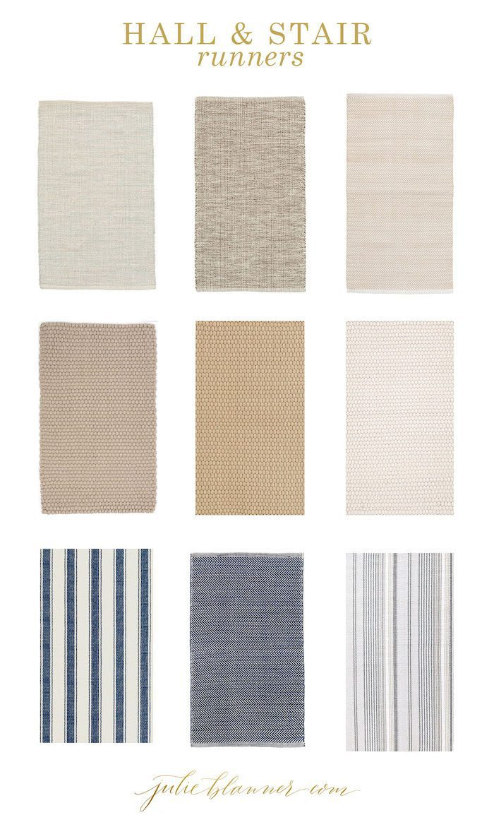 dash and albert indoor outdoor stair runners to update stairs on a budget
