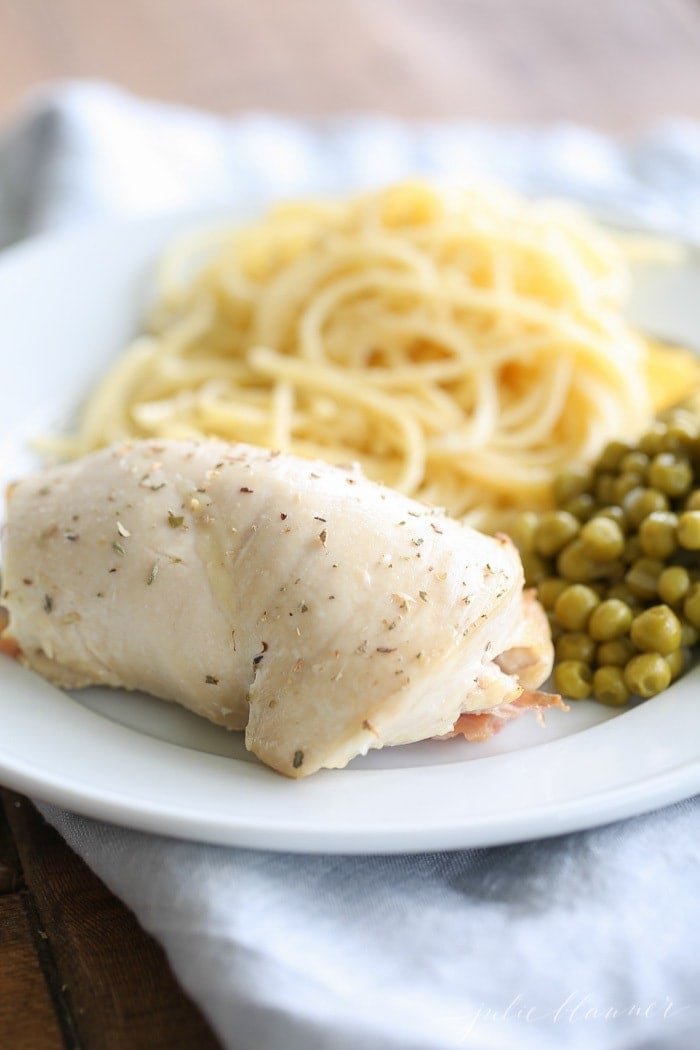 Easy 10 minute dinner - Prosciutto and Fontina Stuffed Chicken Breasts