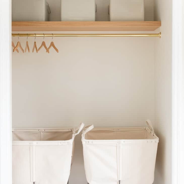 laundry room shelves and rolling carts