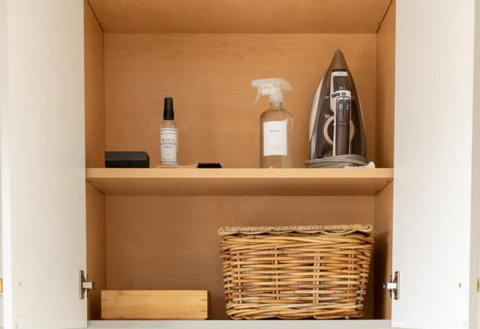 items in laundry room cabinet