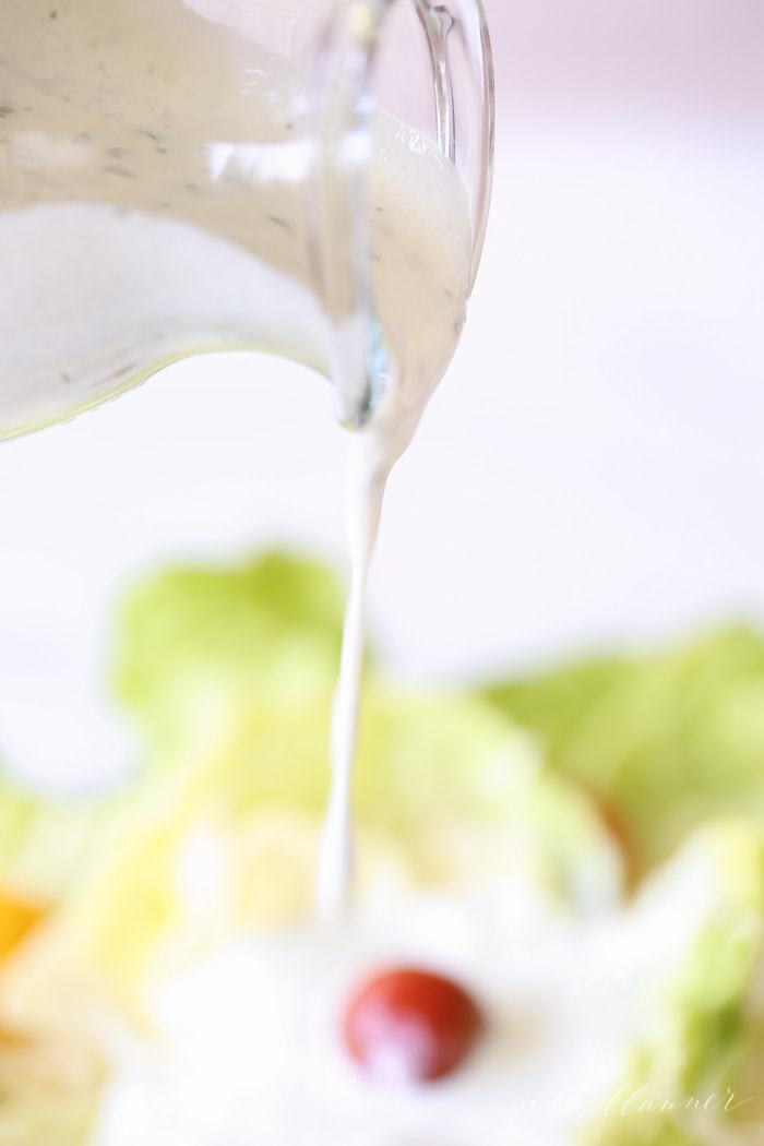 easy homemade light ranch dressing recipe