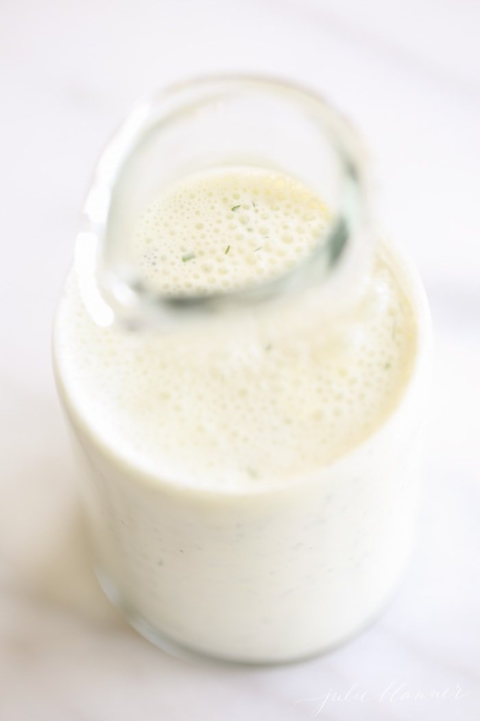 5 minute homemade light ranch salad dressing recipe