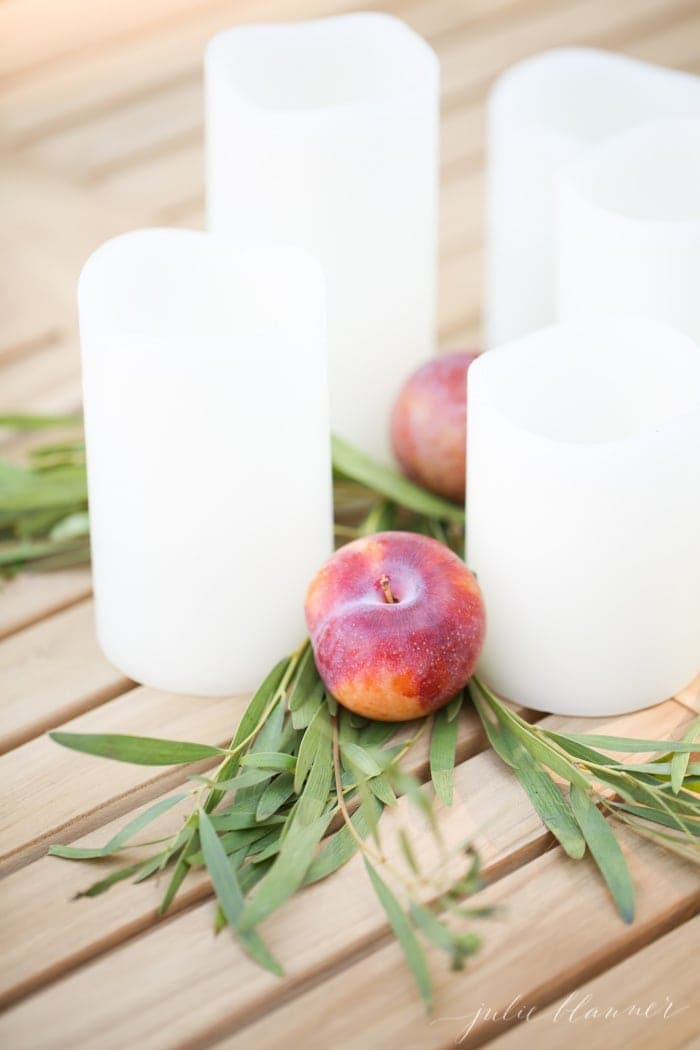fall table setting and 5 minute centerpiece