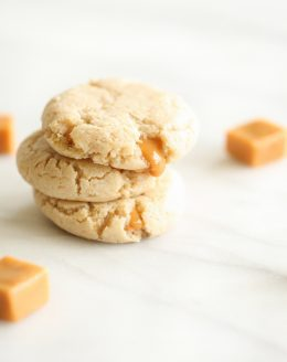 salted caramel cheesecake cookies