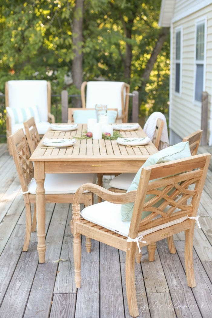 entertaining al fresco for fall
