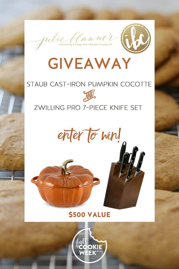 12 new fall infused cookie recipes {and a giveaway} from Julie Blanner and Inspired by Charm!