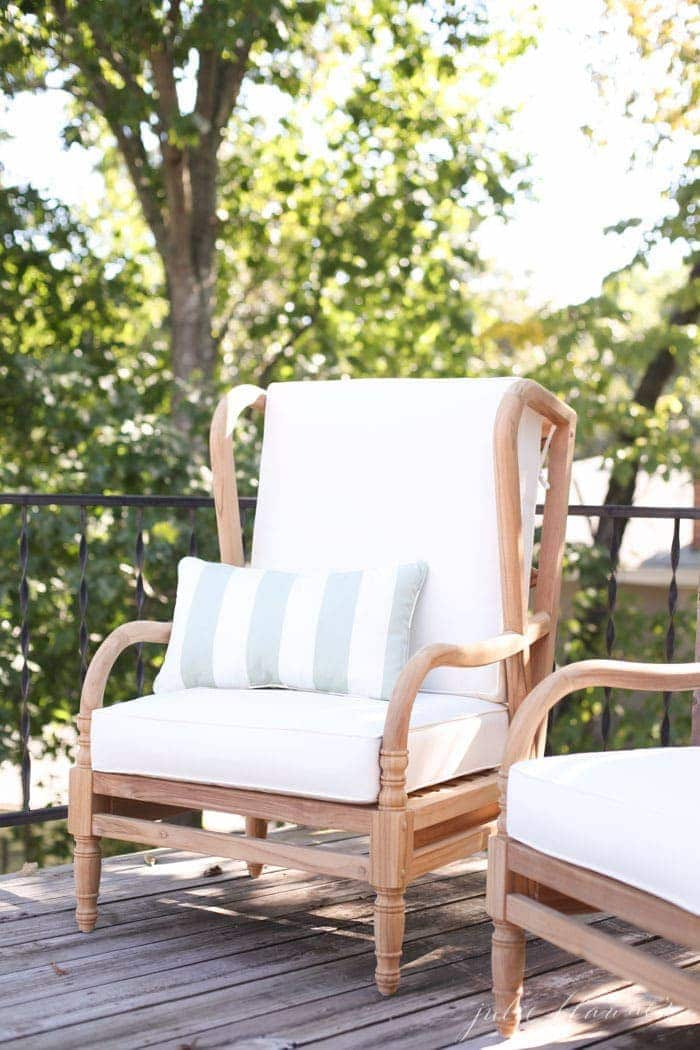timeless patio furniture | teak outdoor furniture