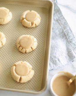 Incredible not-too-sweet Salted Caramel Sugar cookies