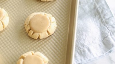 Incredible not-too-sweet Salted Caramel Sugar cookies