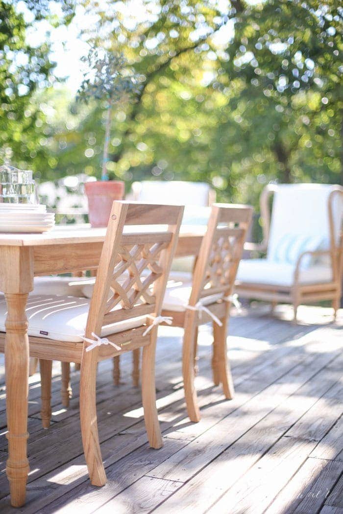 decorating with timeless patio furniture that can transition with the seasons of your life