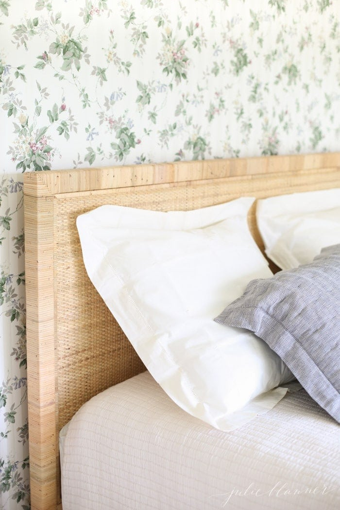 how to decorate with dated wallpaper