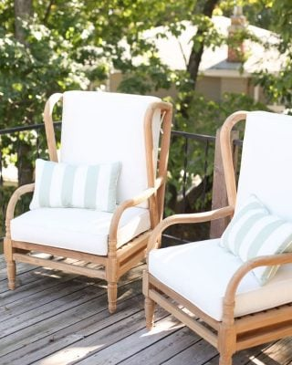 teak outdoor furniture for entertaining