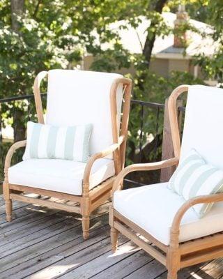 teak outdoor furniture for entertaining