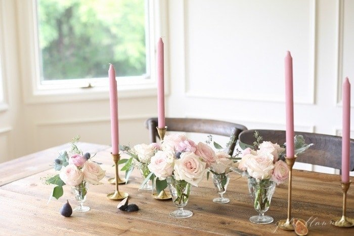 How to Make a Centerpiece for a Long Table