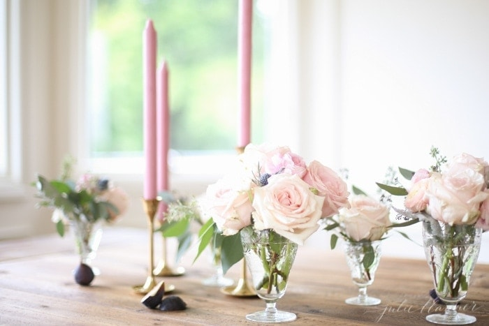 learn how to make a beautiful centerpiece for any occasion from entertaining blogger Julie Blanner