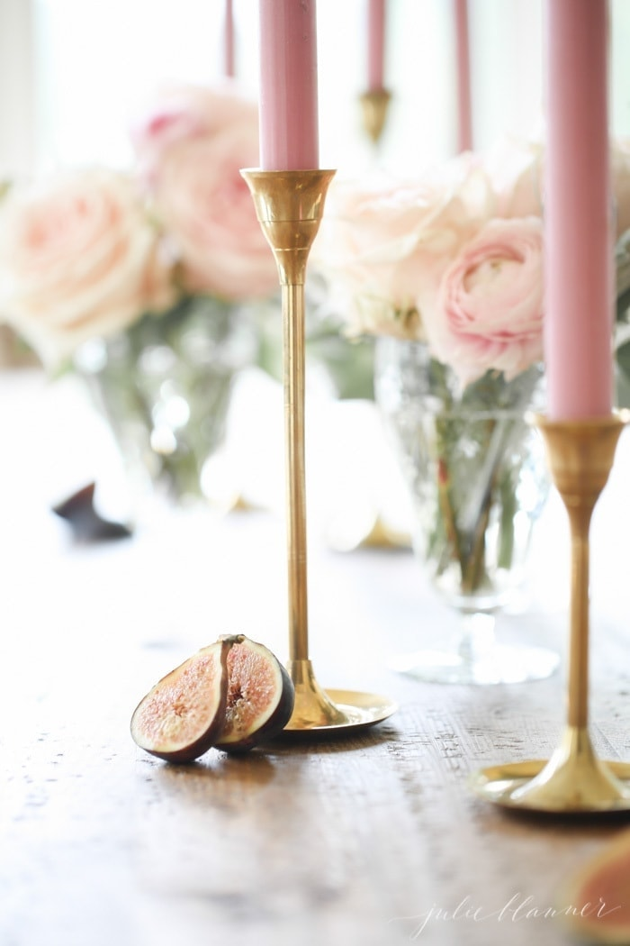 lifestyle blogger Julie Blanner shares a step-by-step tutorial to learn how to make a centerpiece for a long table for any occasion