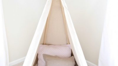 teepee with a drop cloth