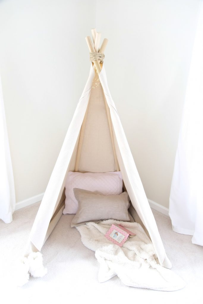 How To Make A Teepee Tent An Easy No Sew Project In Less