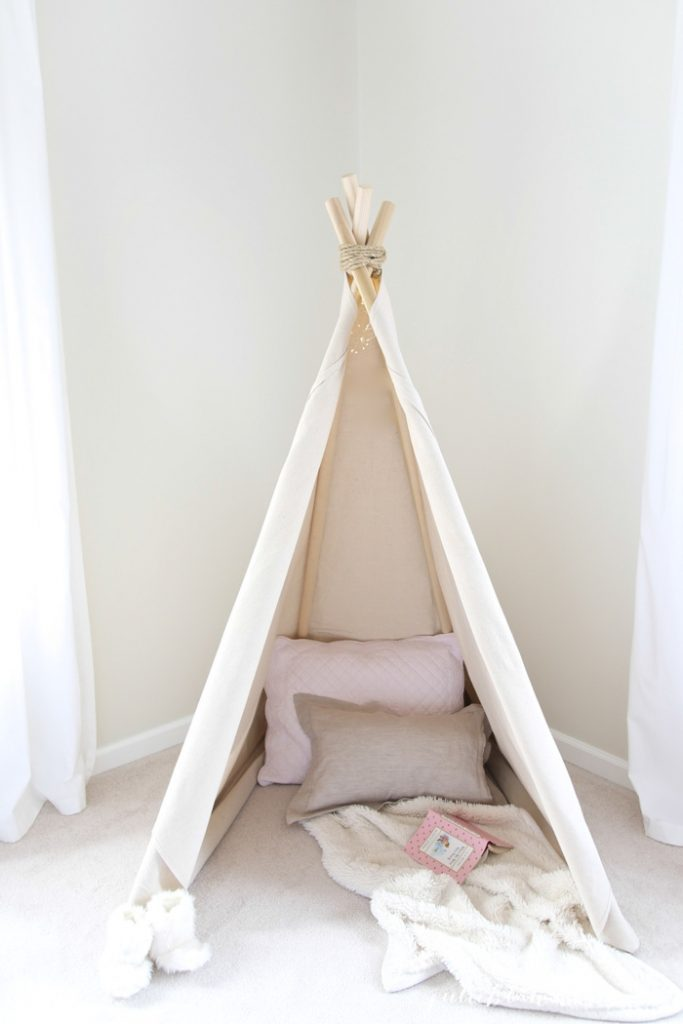 How to Make a DIY Teepee with Step by Step Instructions