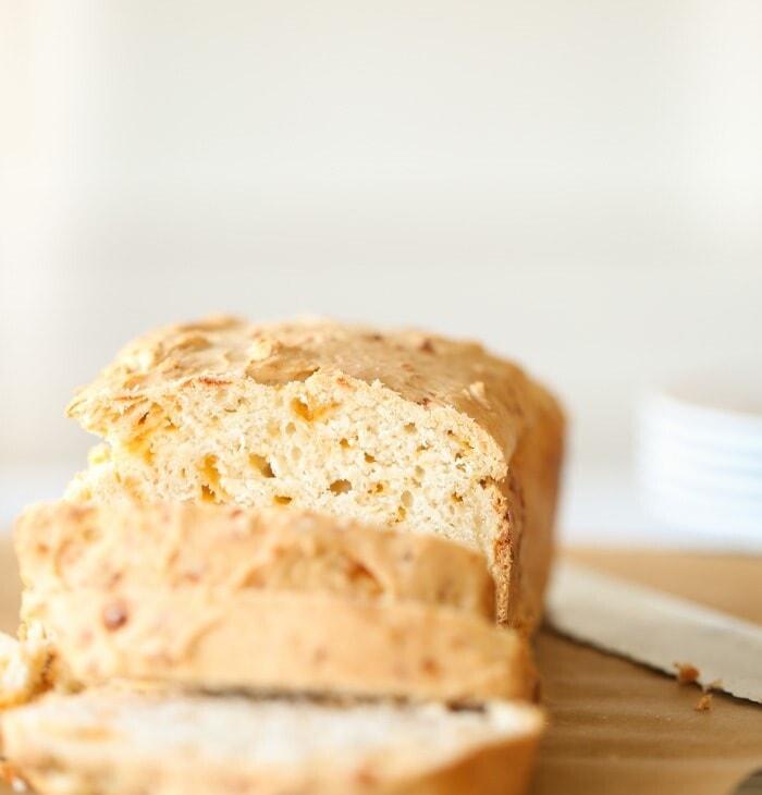 cheddar beer bread recipe on julieblanner.com