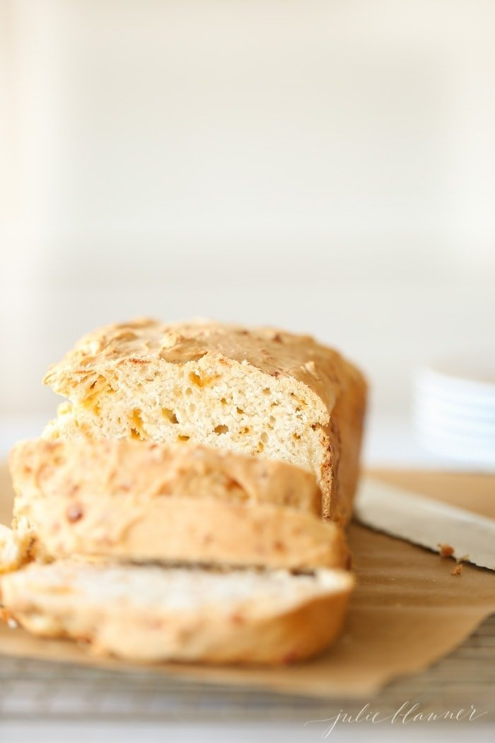 fall cheddar cheese beer bread