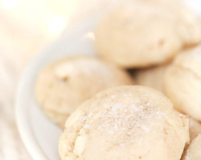 White Chocolate Sugar Cookies | White Christmas cookie recipe
