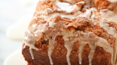 Incredibly moist cinnamon roll bread recipe in just 10 minutes!