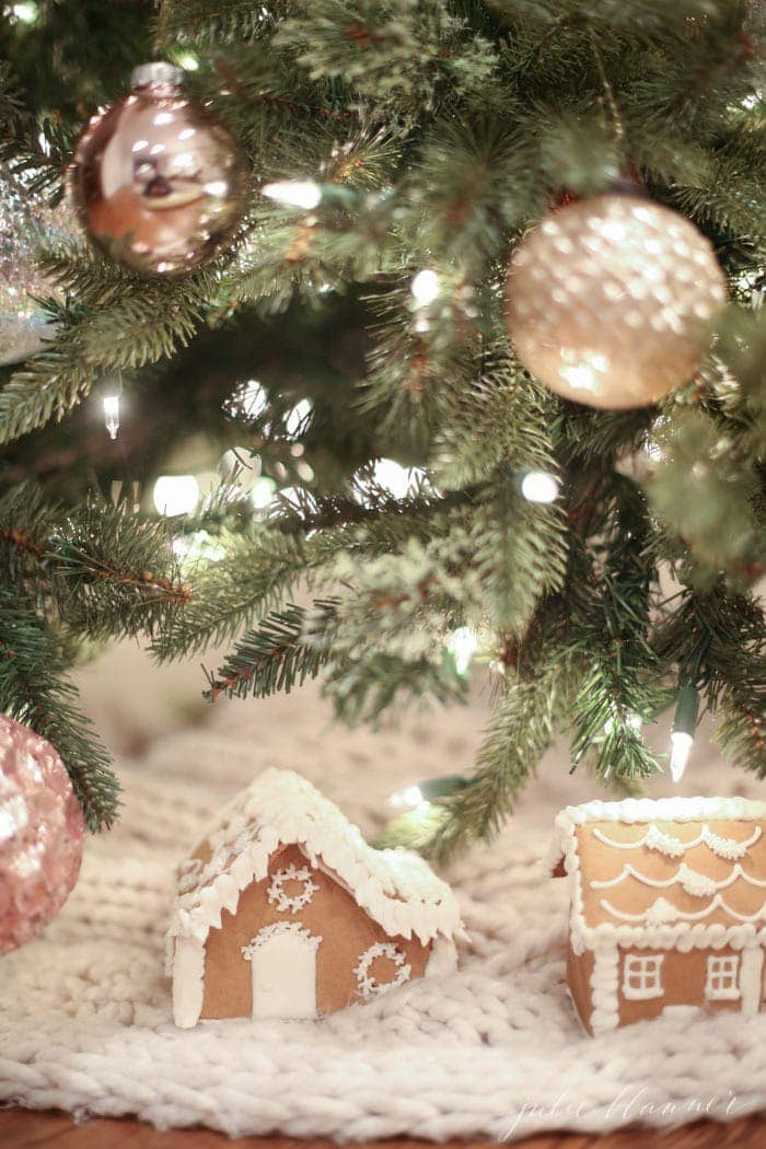 beautiful blush Christmas tree and whimsical decorating ideas