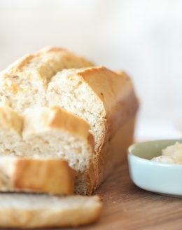 5 minute foolproof honey beer bread recipe