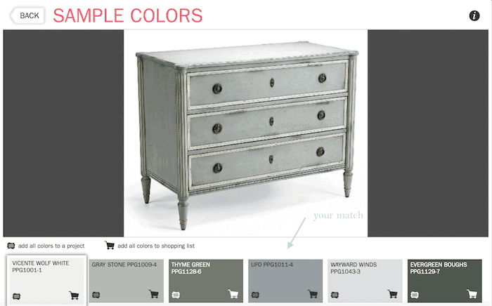 how to find a paint color from a photo