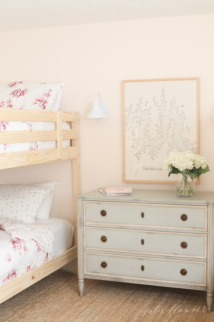 pink and blue floral bedroom ideas