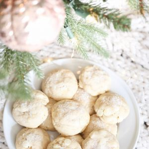 White Christmas Cookie Recipe | deliciously easy white chocolate sugar cookie recipe