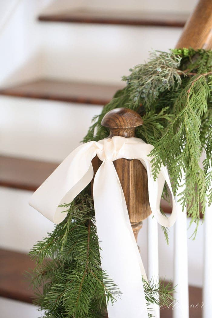 fresh Christmas decorations | beautiful garland