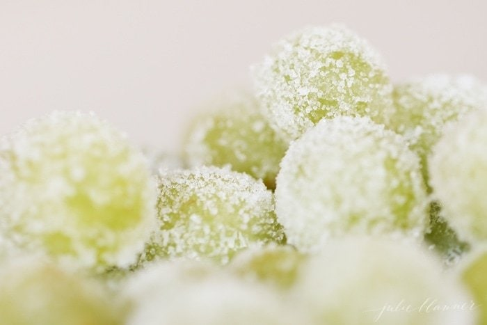 skinny dessert recipe | sugar champagne grapes
