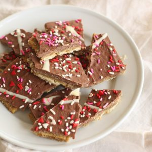 sprinkled toffee Valentine's Day candy recipe