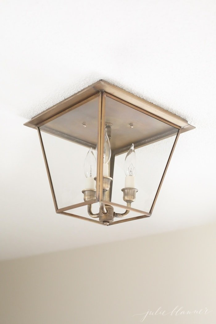 hall lighting | beautiful brass lanterns