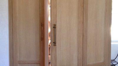 Giannetti Velvet and Linen built in refrigerator looks like French cabinet