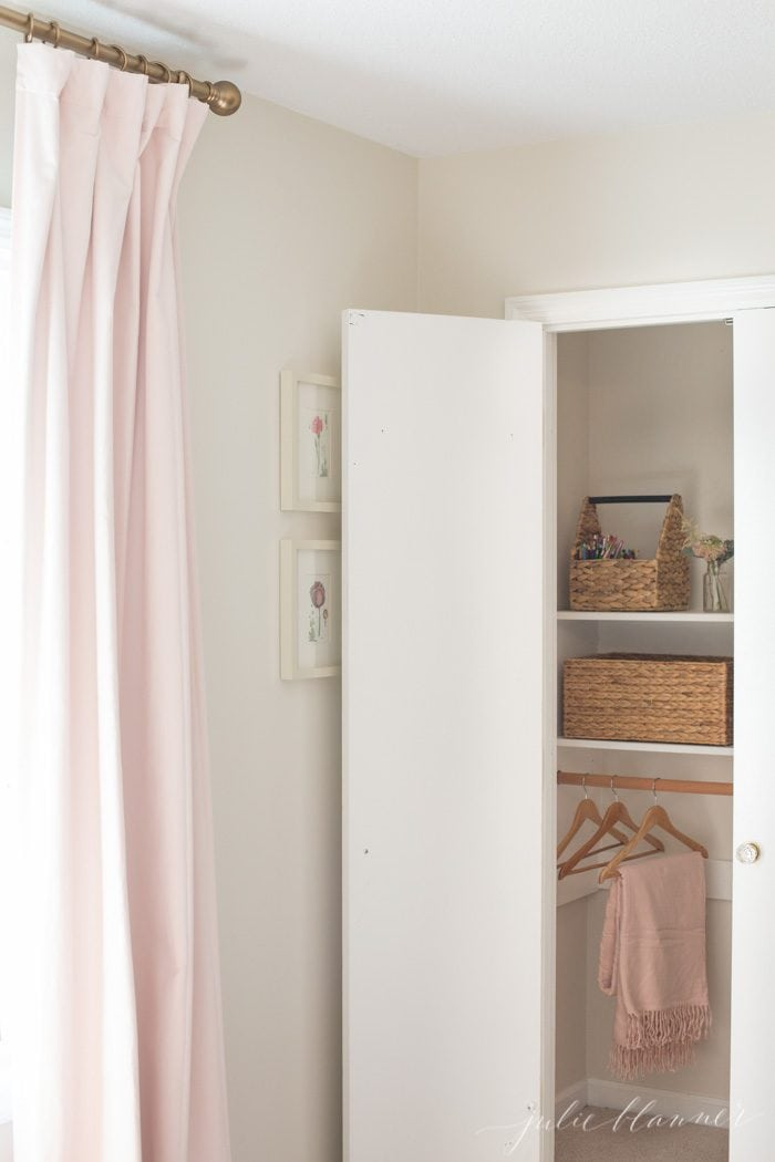 beautiful bedroom closet | pink girls bedroom