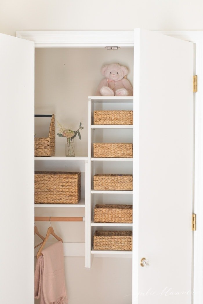 bedroom closet storage and organization