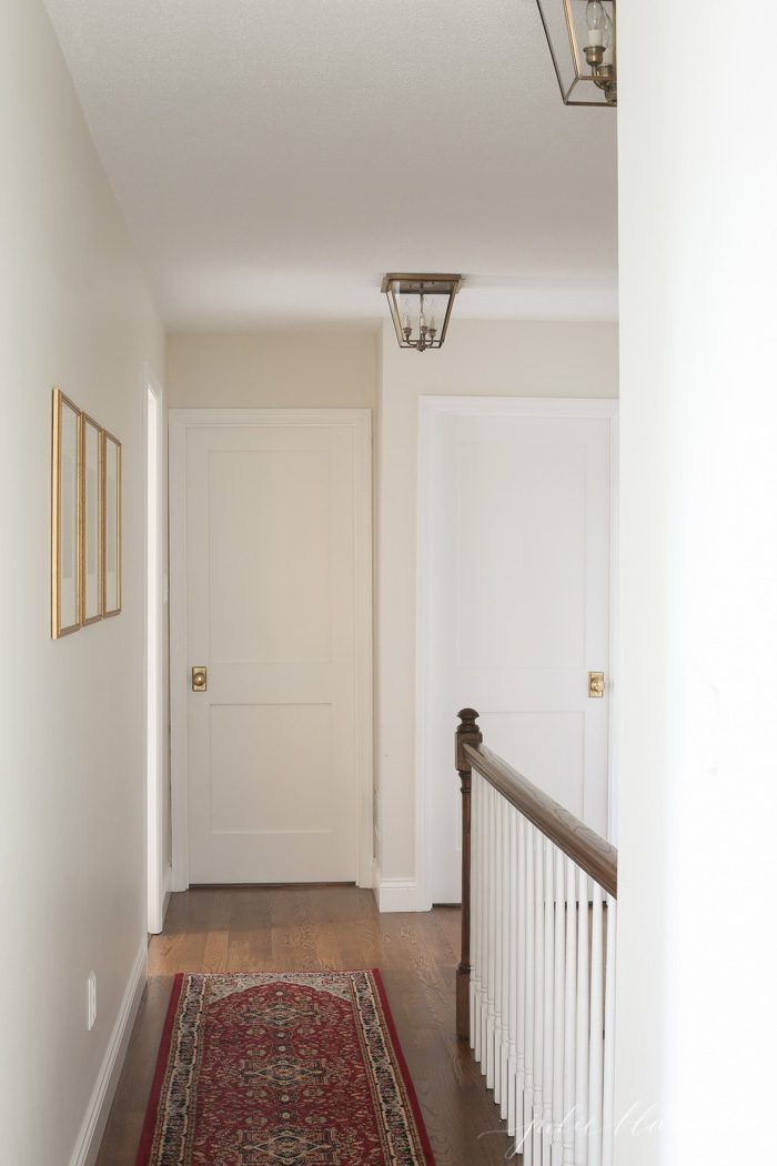 traditional home hall lights | brass lanterns
