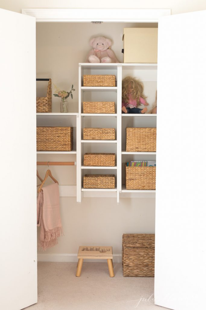kids closet organization and storage