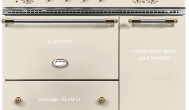 lacanche range | brass and ivory french range
