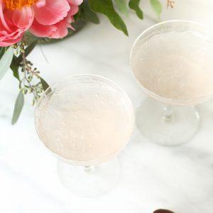 2 ingredient 5 minute rosé slushy recipe