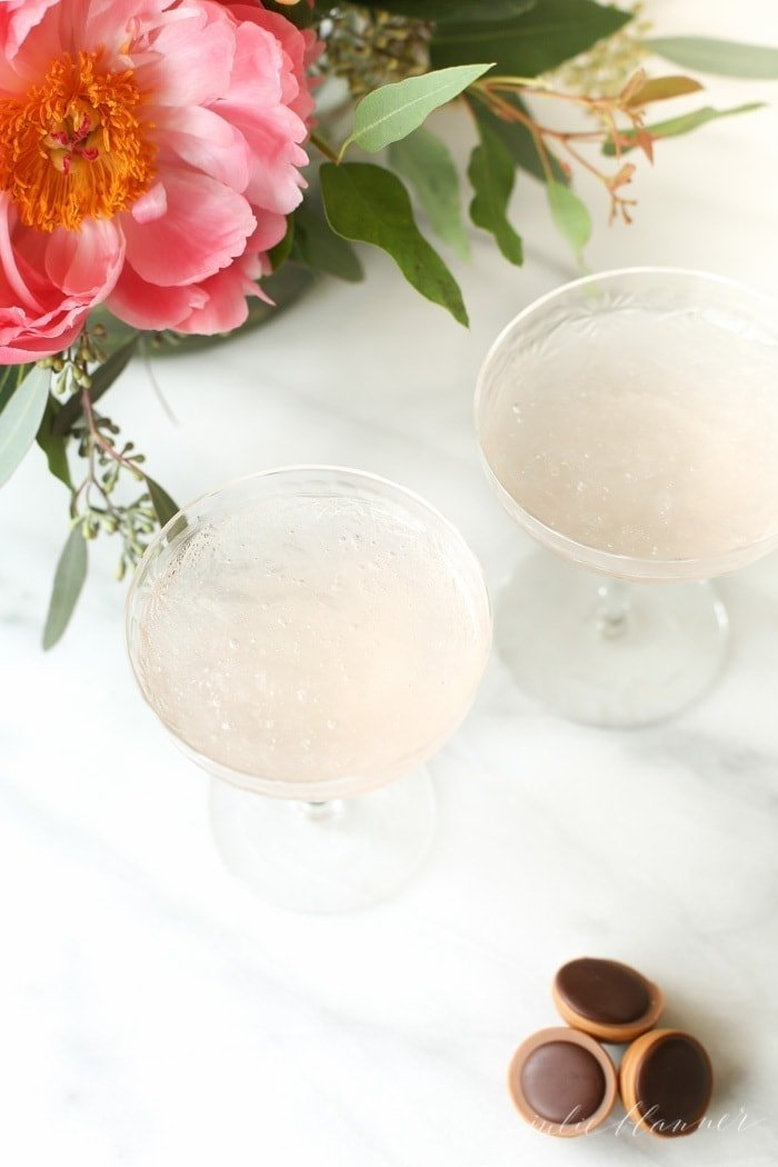 Toffifay and Rosé Slushy