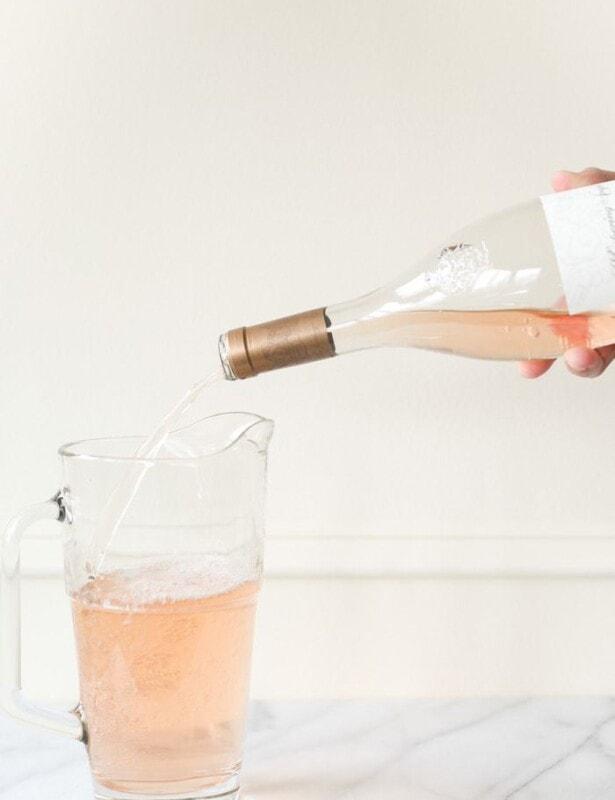 how to make rosé slushies | easy 2 ingredient rose slushy recipe