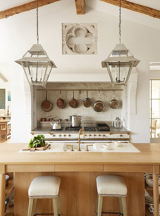 Giannetti Velvet and Linen Patina Farm Kitchen with French Lacanche Range