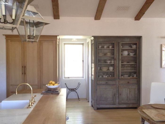panel ready built in refrigerator | Velvet and Linen Patina Farm