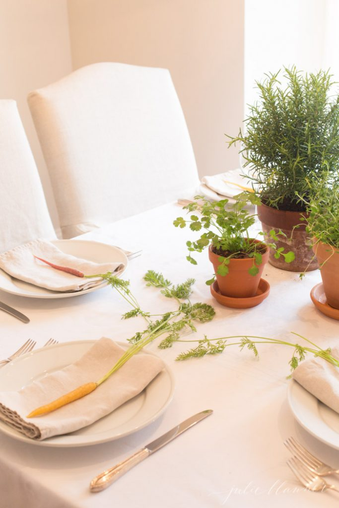 effortless Easter table decorations